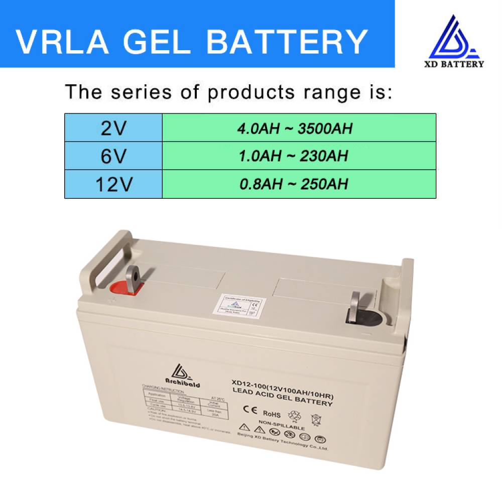 12V 100AH Solar Gel Battery Deep Cycle Battery Maintenance Free